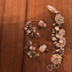 Jcrew necklace and earrings